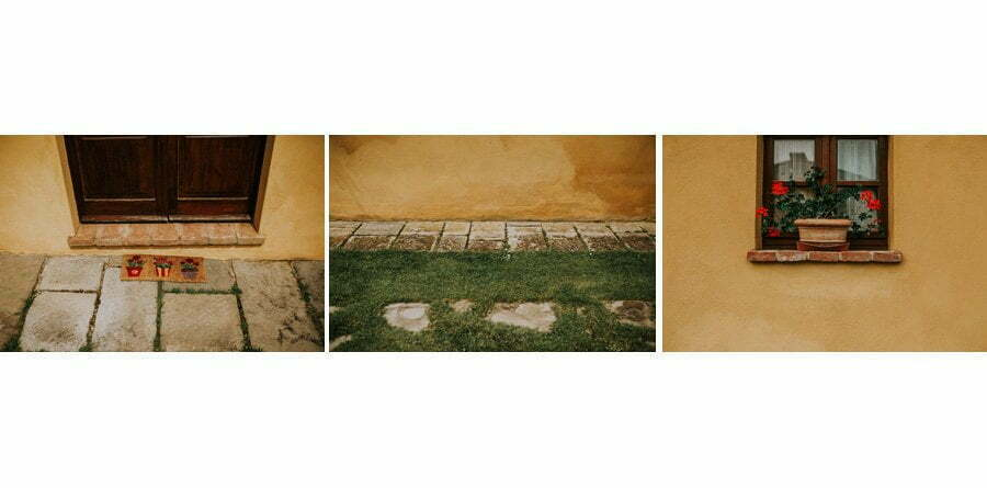 details of wedding venue Two windows of Casale del Marchese in Tuscany