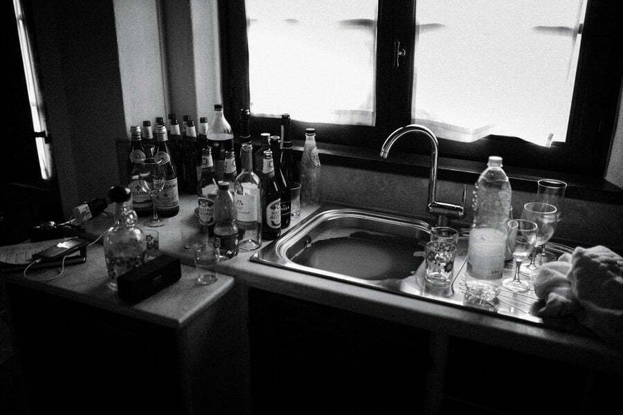 kitchen after the party