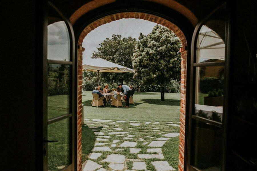 Casale del Marchese garden view