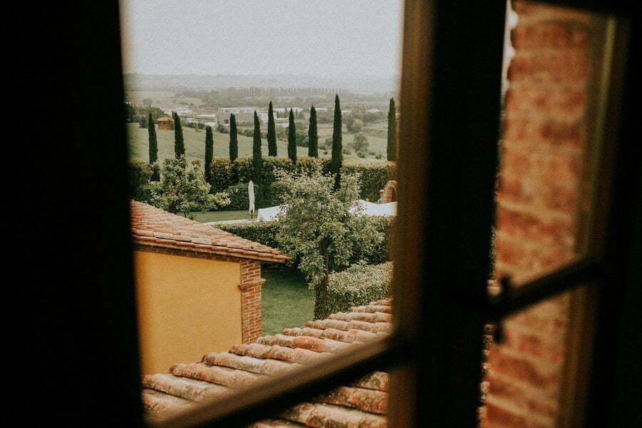 windiw view form wedding villa in tuscany