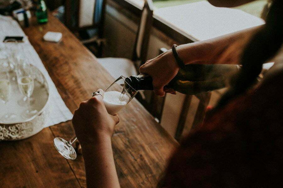 champaign on wedding