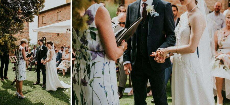 wedding ceremony in Siana villa