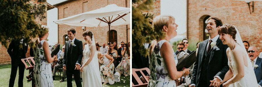wedding ceremony in Siena, Tuscany