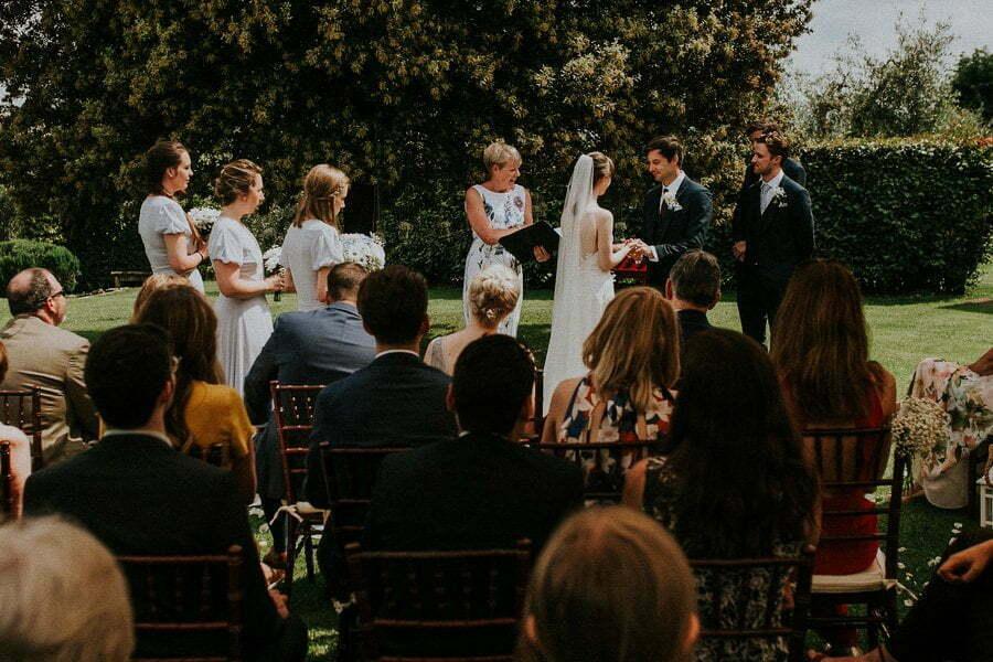 Wedding ceremony in Tuscany villa