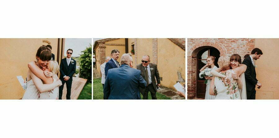 hugs and kisses emotional moments at wedding