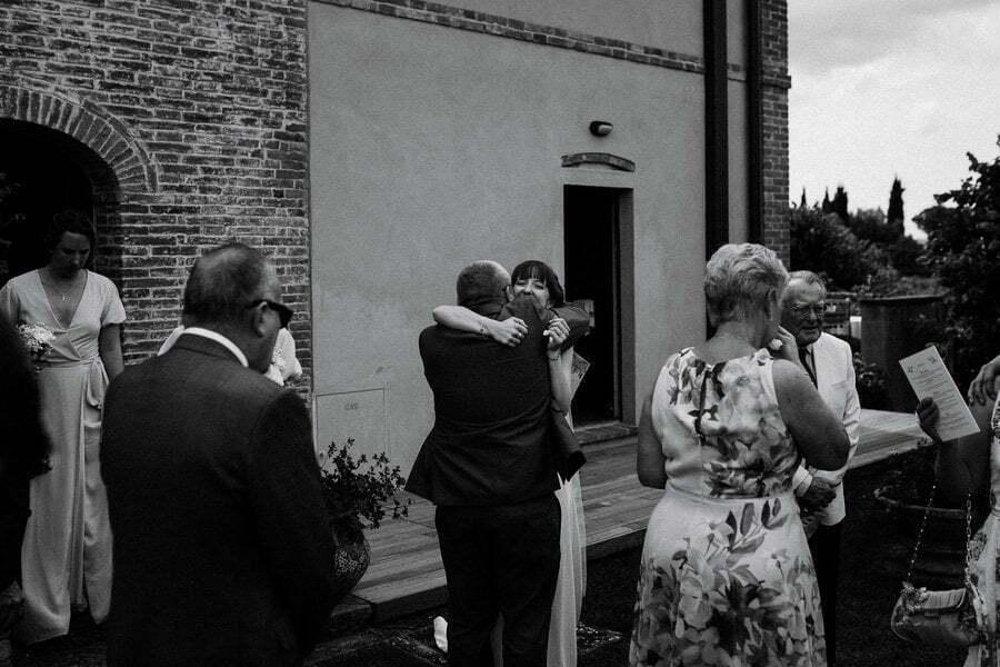 hugs and love at wedding