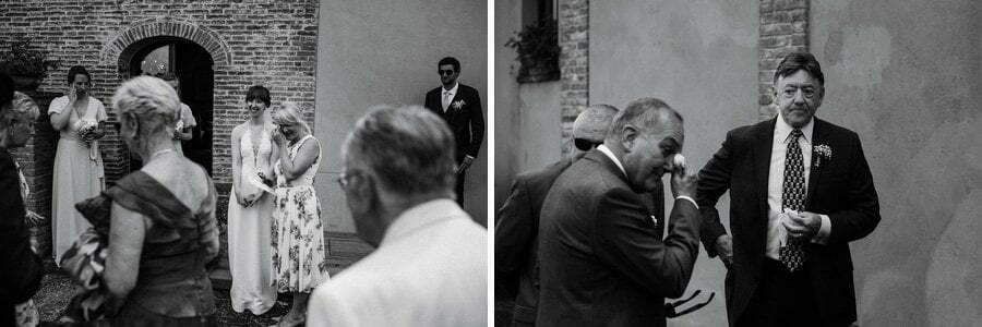 emotions and tears at wedding