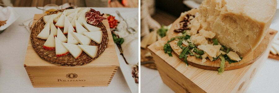 catering at wedding cheese