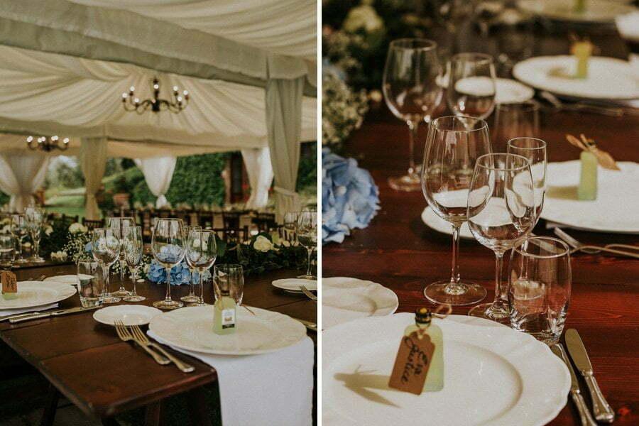 wedding table setup details