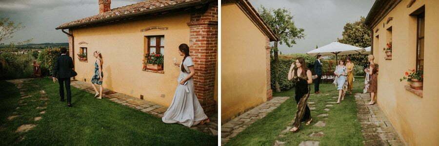 rain at wedding in Tuscany