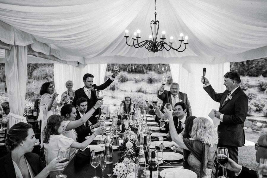 wedding speech toasts in Tuscany