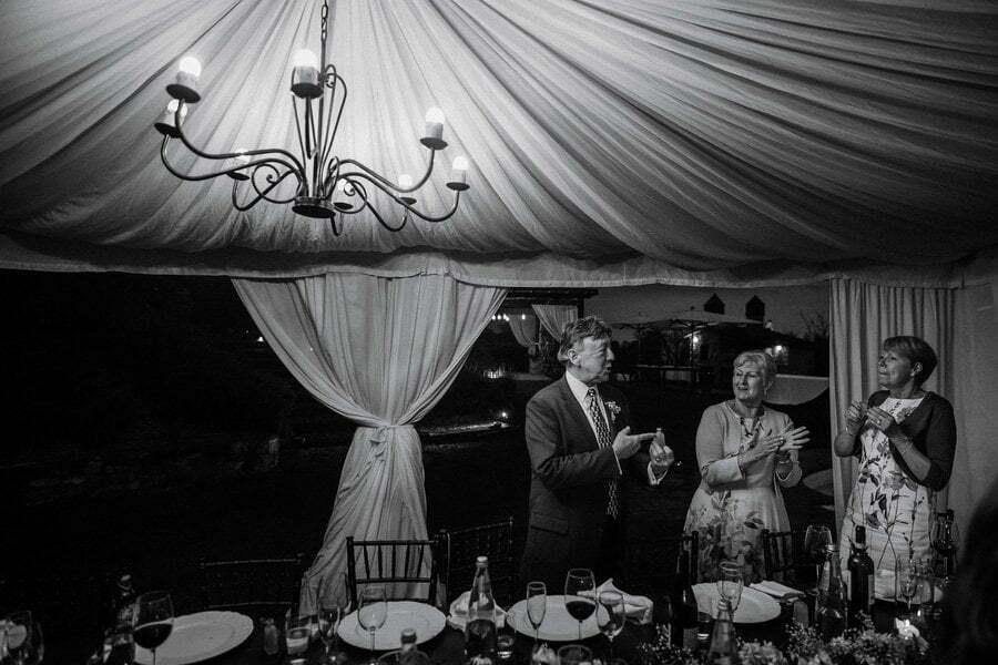 Limoncello tasting at wedding